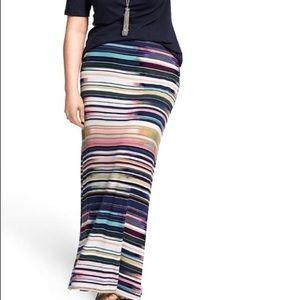 Lane Bryant striped maxi skirt
